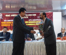 Being felicitated by Trans Asian Chamber of Commerce International Award for work in field of Psychology